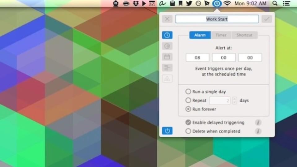 朝8時に好きなウェブページを開くなど、Macで自動操作を簡単に設定できる『Clockwise』