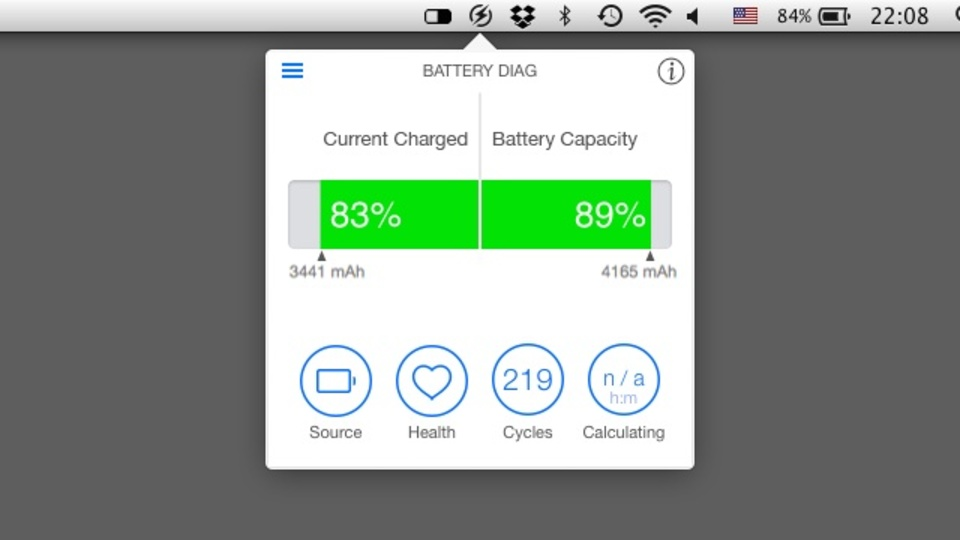 MacBookのバッテリー診断ができる『Battery Diag』で買い替えを見極める