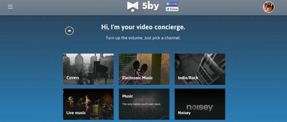 質問に答えるだけで、いまの気分に合った動画が観られる「5by」