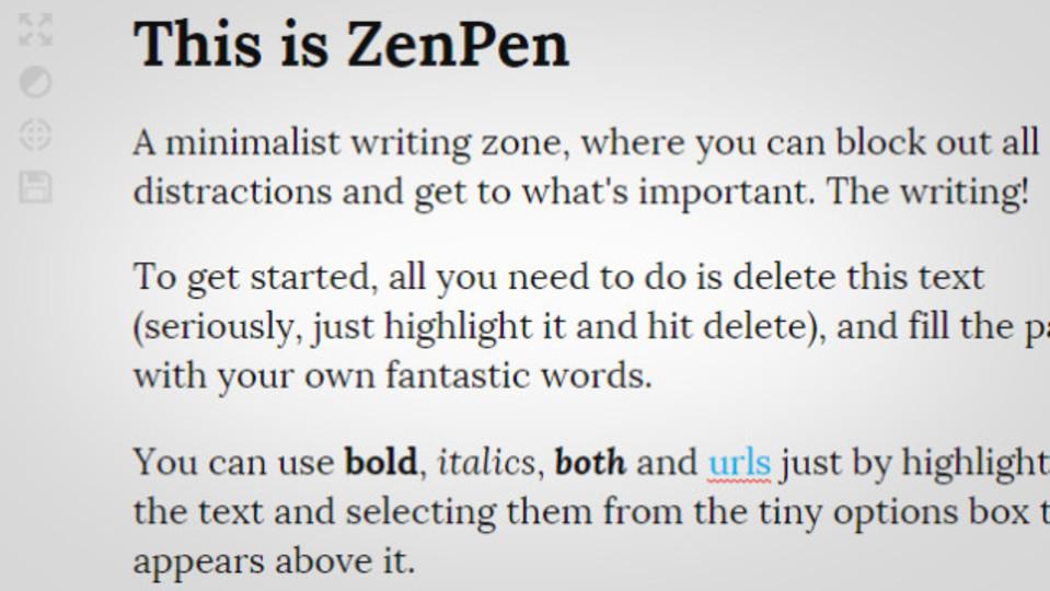 シンプルで気が散りにくいライティングツール「ZenPen」