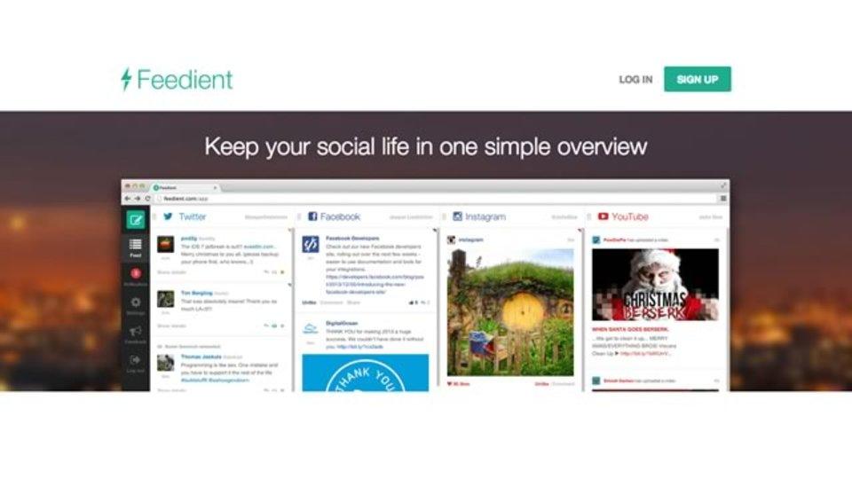 Facebook、Twitter、Instagram、YouTubeのフィードをまとめて閲覧できる「Feedient」