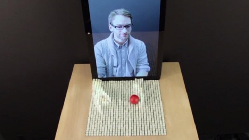驚くべき未来のインターフェース「形を変えるテーブル」