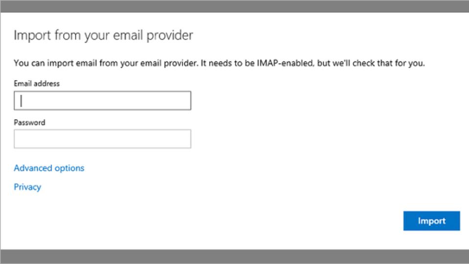 Outlook.comアップデート:他のIMAPメールサービスからのメールを取り込み可能に