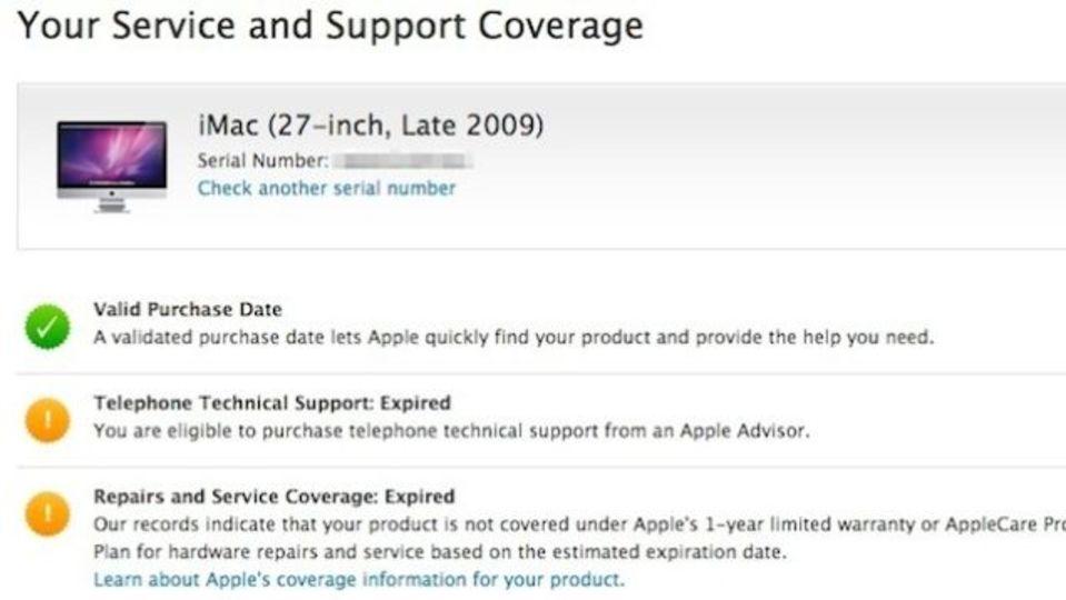 Apple製品の保証期間を簡単に調べる方法