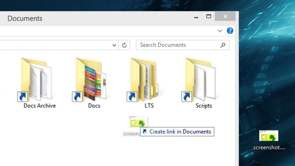 ファイルをドラッグ&ドロップする際に役立つショートカット