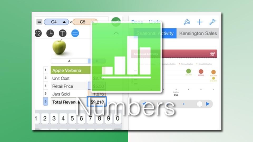 iPhoneユーザーなら『Numbers』できれいな表計算を
