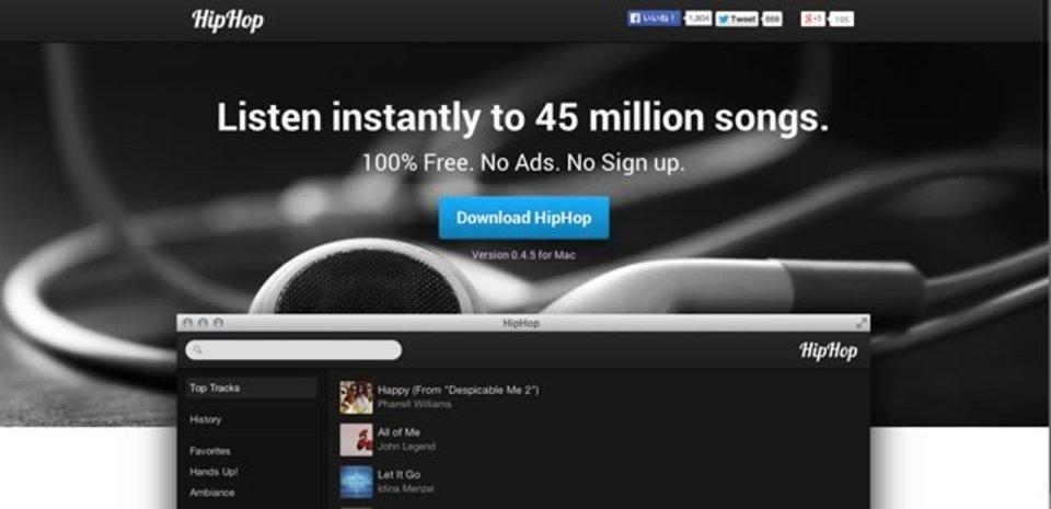 登録なしで今すぐ4500万もの楽曲を視聴できるアプリ「HipHop」