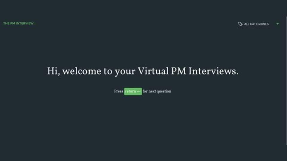 プロダクトマネージャーの面接練習ができるサイト「The PM Interview」
