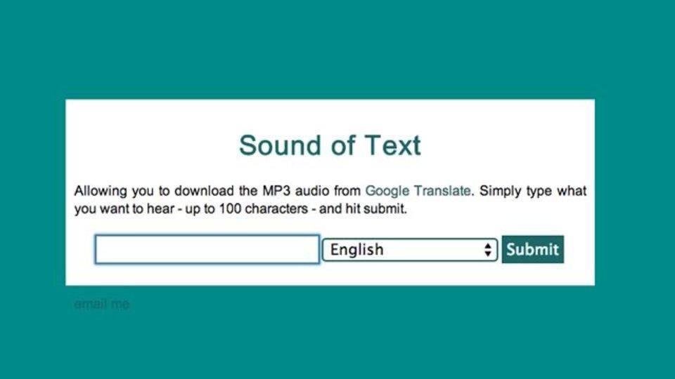 Google翻訳で流れる音声をMP3で保存できるサイト「Sound of Text