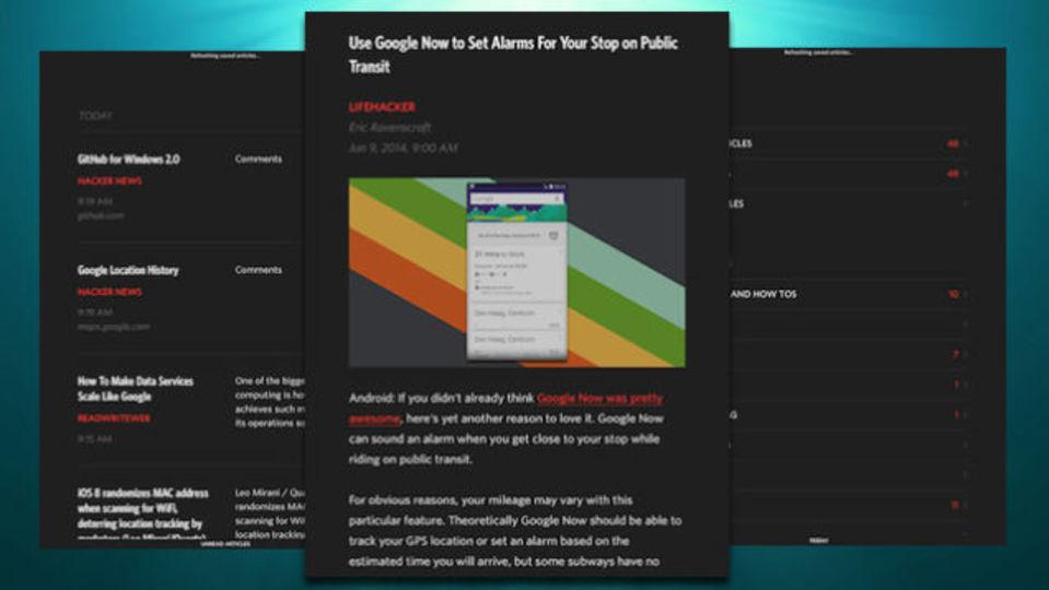 ジェスチャー操作のRSSリーダー「Unread」がiPadアプリで登場