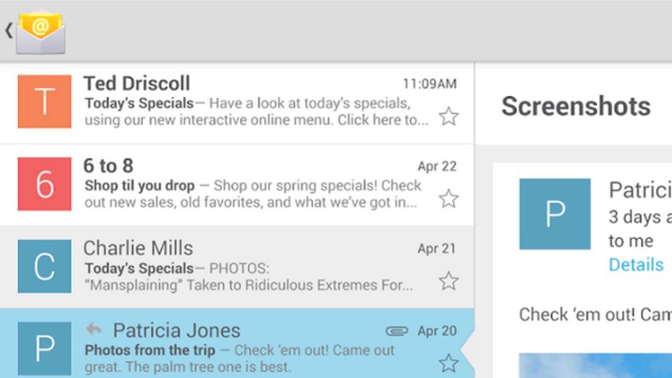 Googleの純正メールアプリがGoogle Playストアに登場