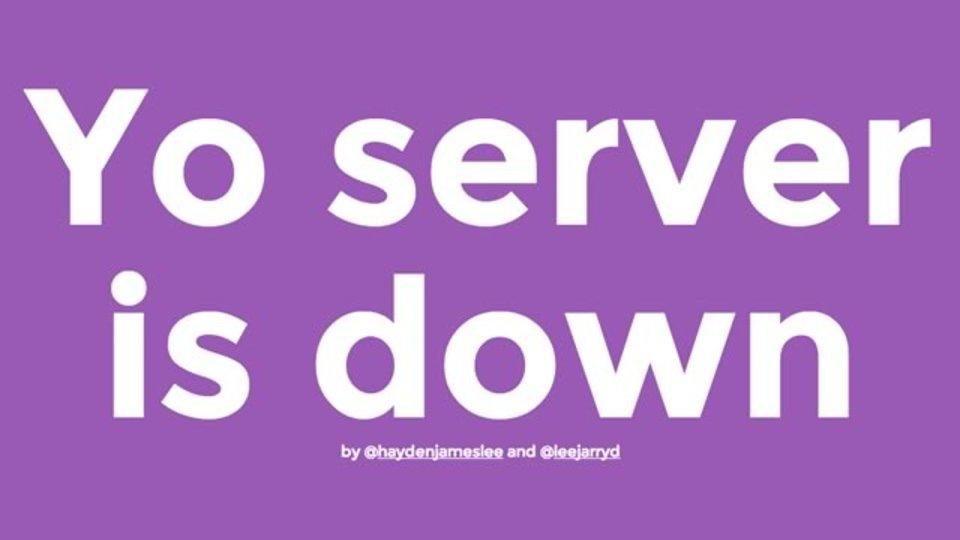 指定したウェブサービスが落ちたYoと通知してくれる「Yo server is down」