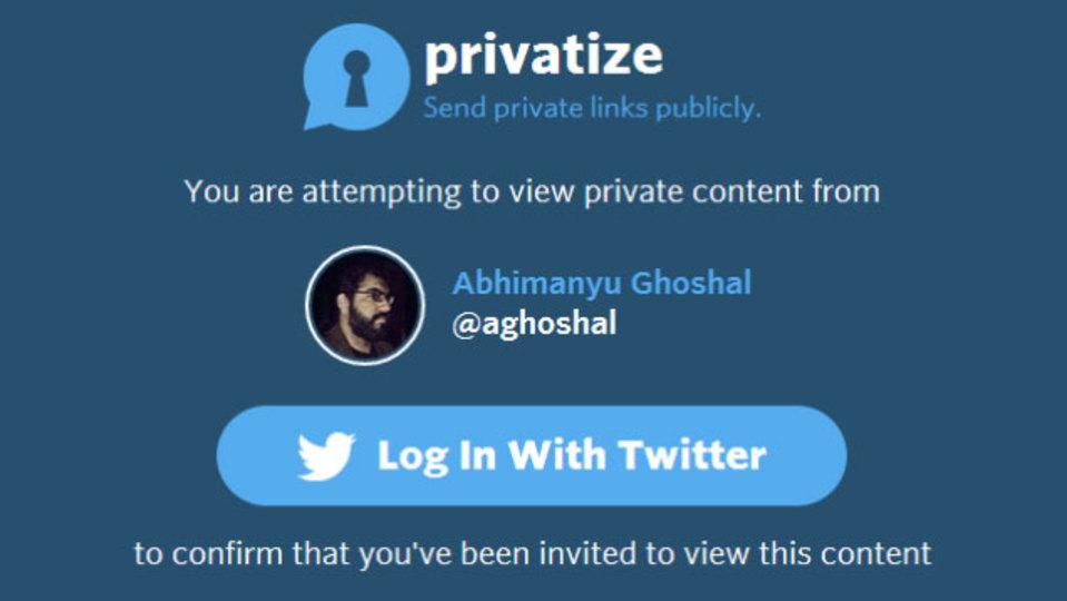 指名したユーザーだけが開けるリンクをツイートできる「Privatize」