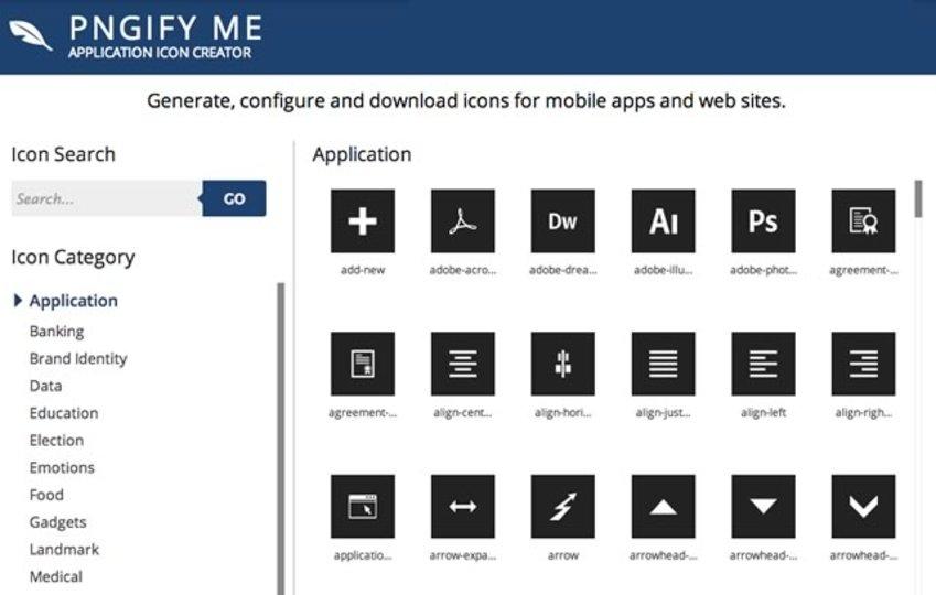 2000種類以上のPNGアイコンをカスタマイズしてダウンロードできる「PNGify Me」