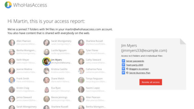 Google Driveの共有設定を簡単に整理できるサービス『WhoHasAccess』