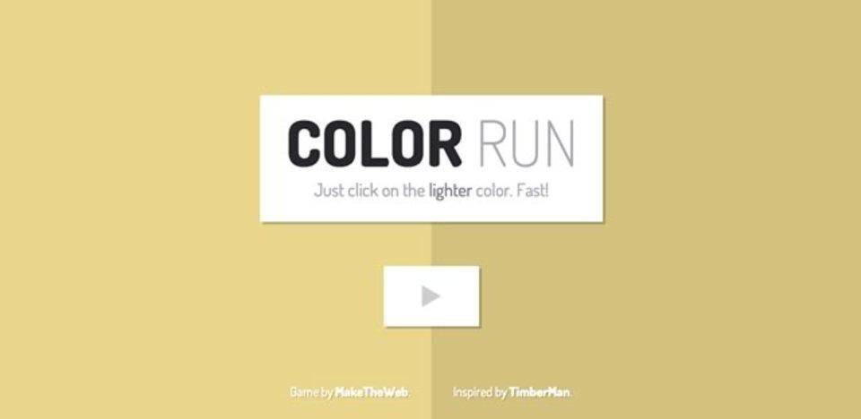薄い色を次々と選んでいくゲーム「ColorRun」