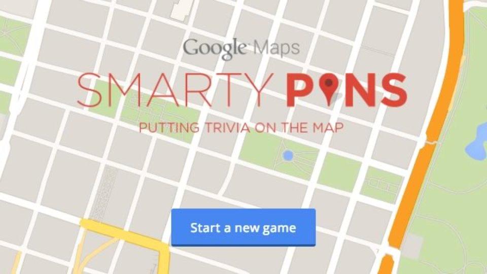 Googleマップで地図クイズが遊べるサイト「Smarty Pins」