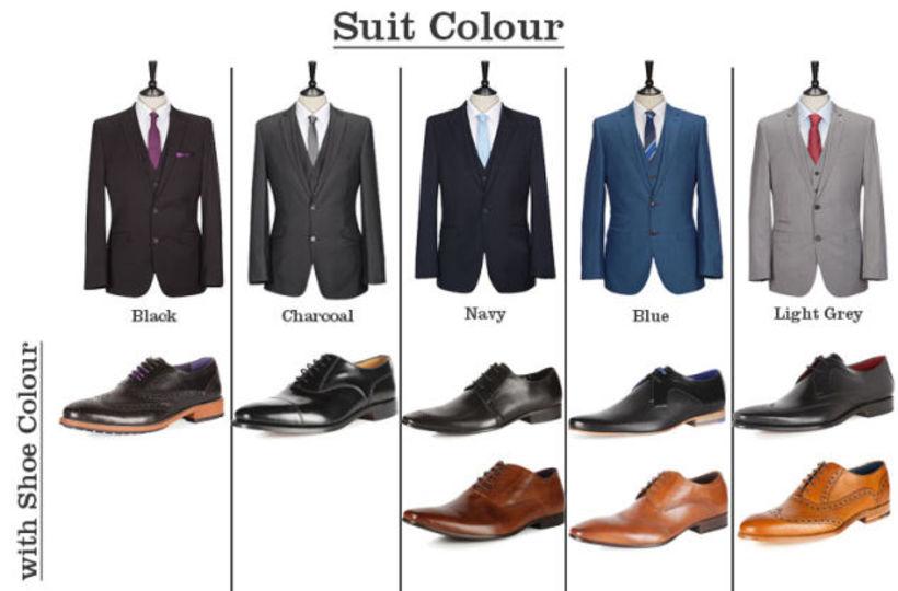 スーツと靴が完璧にマッチする「ファッションの早見表」
