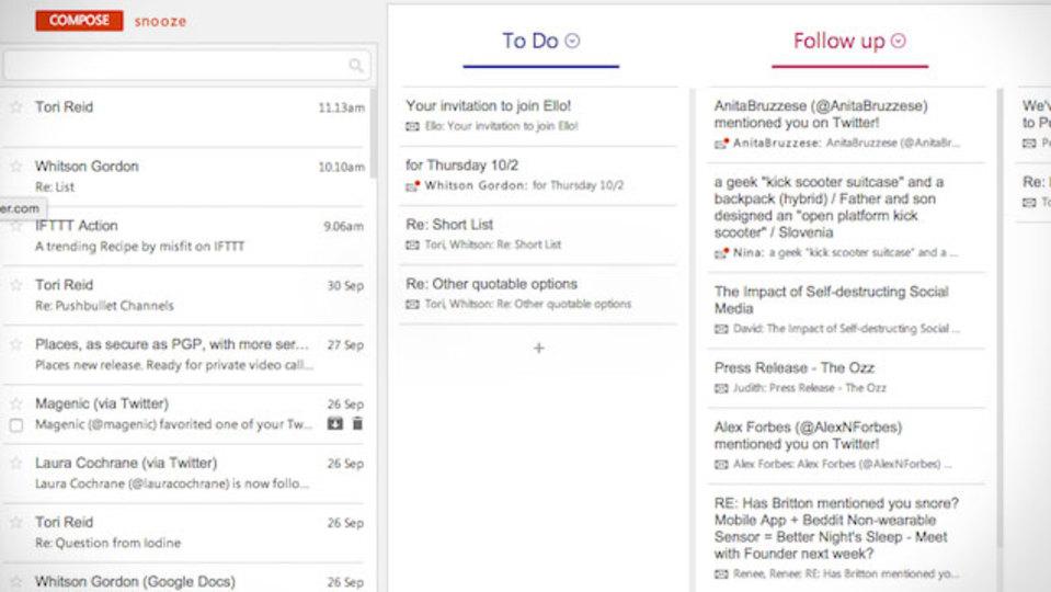 Gmailのデザインを根本的に変えてしまう、挑戦的なChrome拡張機能『Sortd』