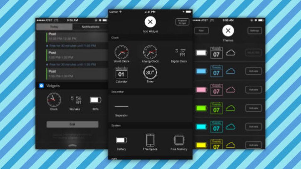iOSの通知センターをもっと便利にするアプリ『Vidgets』
