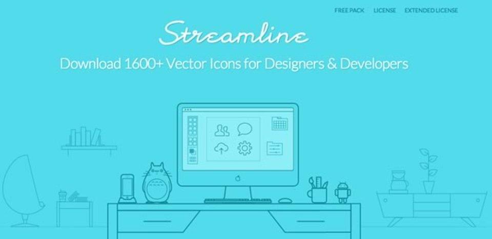 1600種類以上のベクターアイコンが手に入るサイト「Streamline」
