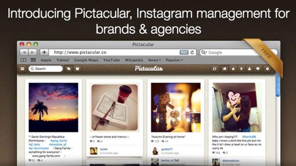 InstagramをPCやiPadで閲覧しやすいサイト「Pictacular」