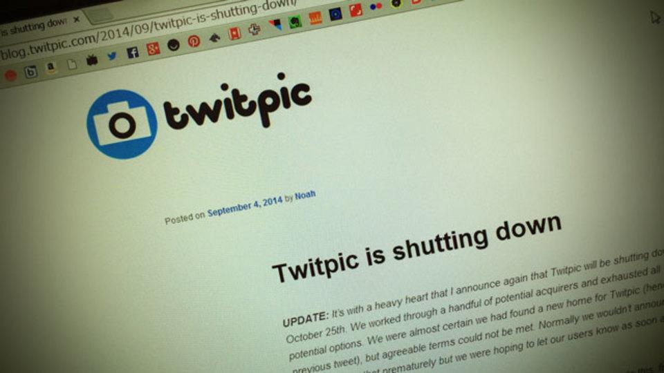 お急ぎください。Twitpicが10月25日でのサービス終了を再度お知らせ