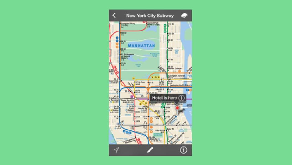 データ通信なしで使えるオフライン地図アプリ『Maplets』
