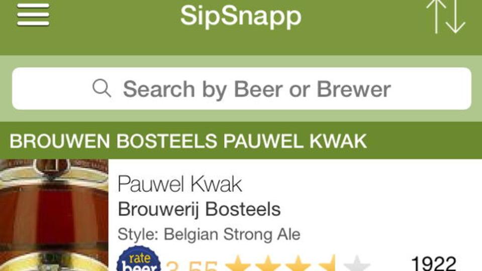 数あるクラフトビールのレビューをすぐに確認できるアプリ『SipSnapp』