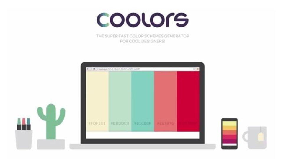 次々とセンスある配色パターンを提案してくれるサイト「Coolors」