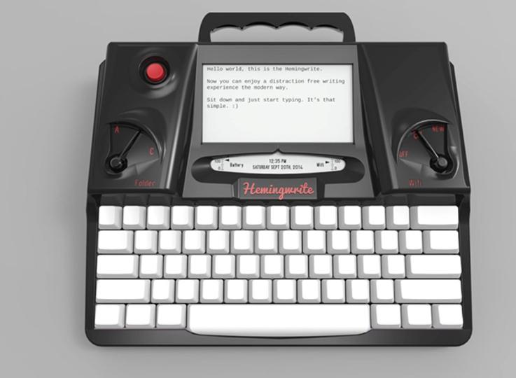 電子タイプライターの夜明け。テキスト入力に特化したマシン「Hemingwrite」