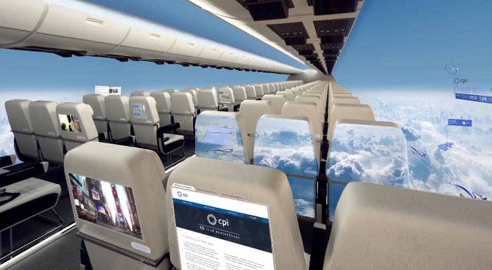 「窓側の席」さようなら。有機ELディスプレイを活用した近未来型飛行機のコンセプト
