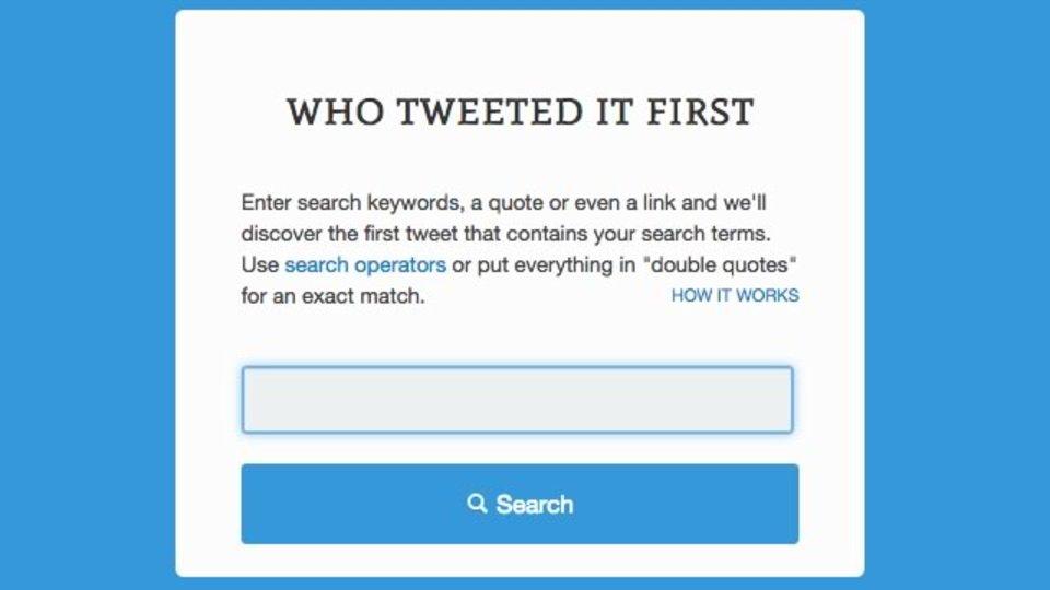 指定したリンクを最初にツイートした人を見つけ出すサイト「First Tweet」