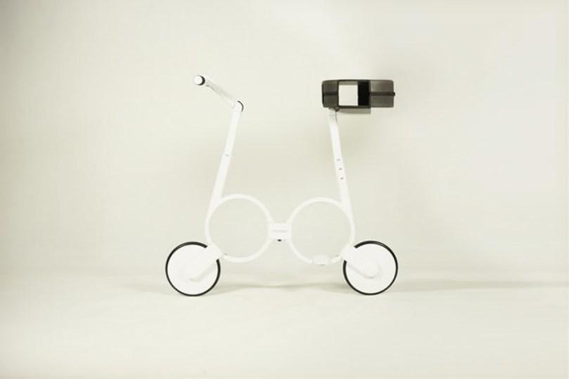 畳める電動バイク:最高速度20km/h、航続距離は25km、でも重さはたった5kg!