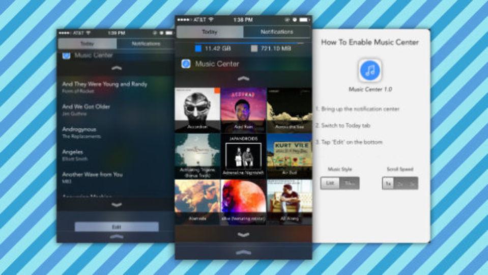 iPhoneのロックを解除しなくても音楽ライブラリにアクセスできる『Music Center』