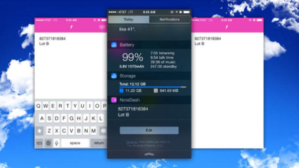 メモの内容を通知センターに表示してくれるアプリ「NoteDash」