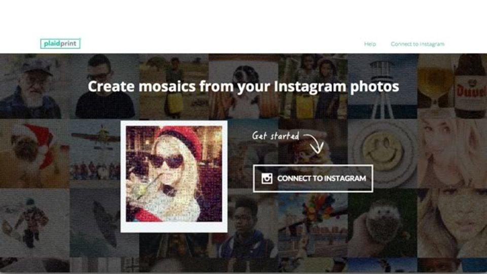 好きな人ほど楽しくなる! Instagramの写真でモザイクをかけられるサイト「PlaidPrint」