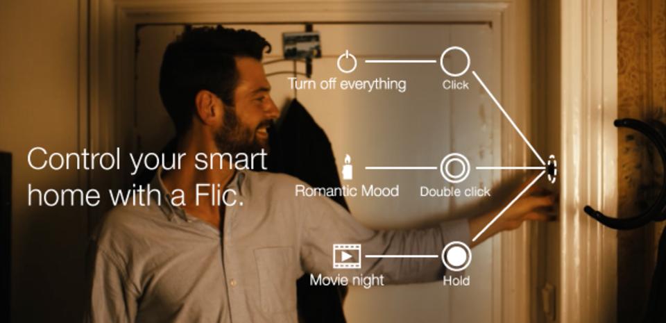 スマホに触れずに、スマホの機能を使えるボタン「Flic」