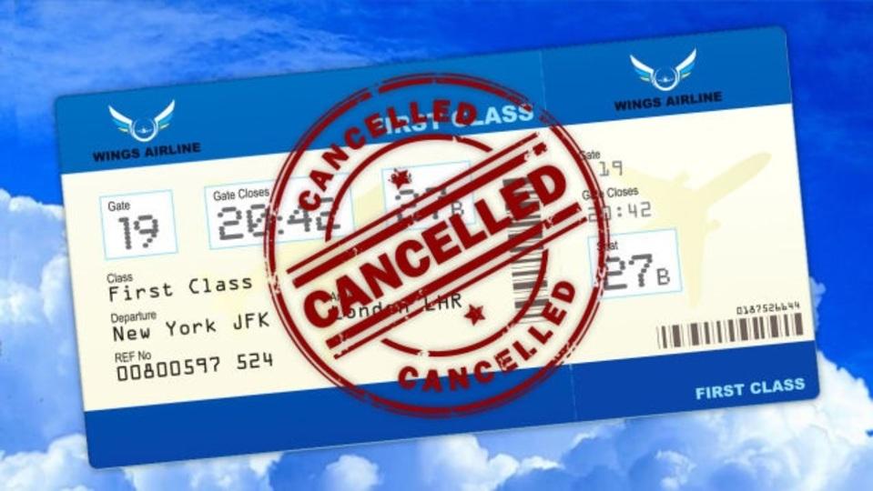 乗る予定だったフライトが欠航した時の対処法