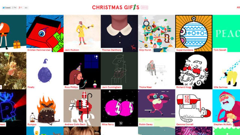 """スタンプより笑えちゃう? メールに添える、クリスマス""""Gif""""t"""