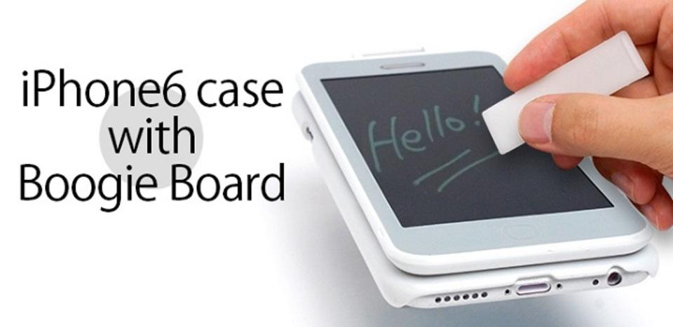 走り書きはここに。「電子メモパッド」付きiPhone 6ケース
