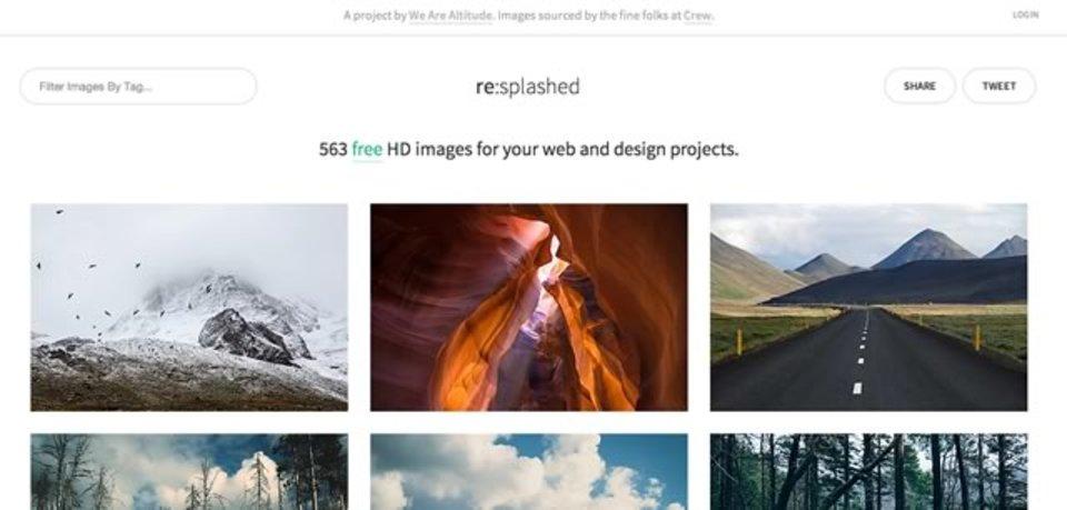 CC0ライセンスで利用可能な高画質写真を500枚以上ダウンロードできるサイト「re:splashed」