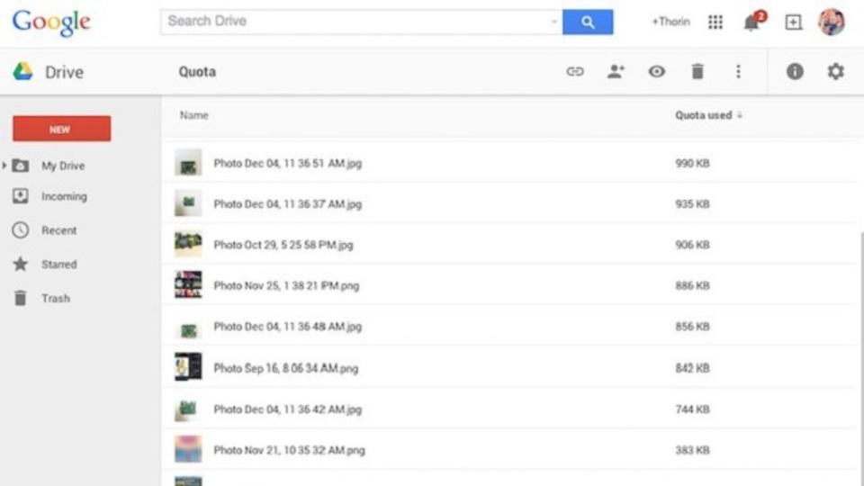 意外と知られていない、Google Driveで容量を食っている重いファイルを見つけ出す簡単な方法