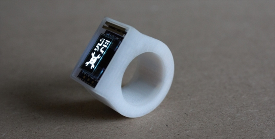 DIY感がしびれる! 3DプリンタとArduinoでつくったスマートリング