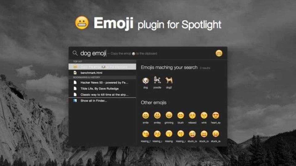 MacのSpotlightで絵文字を検索できるようにするアプリ「Flashlight」