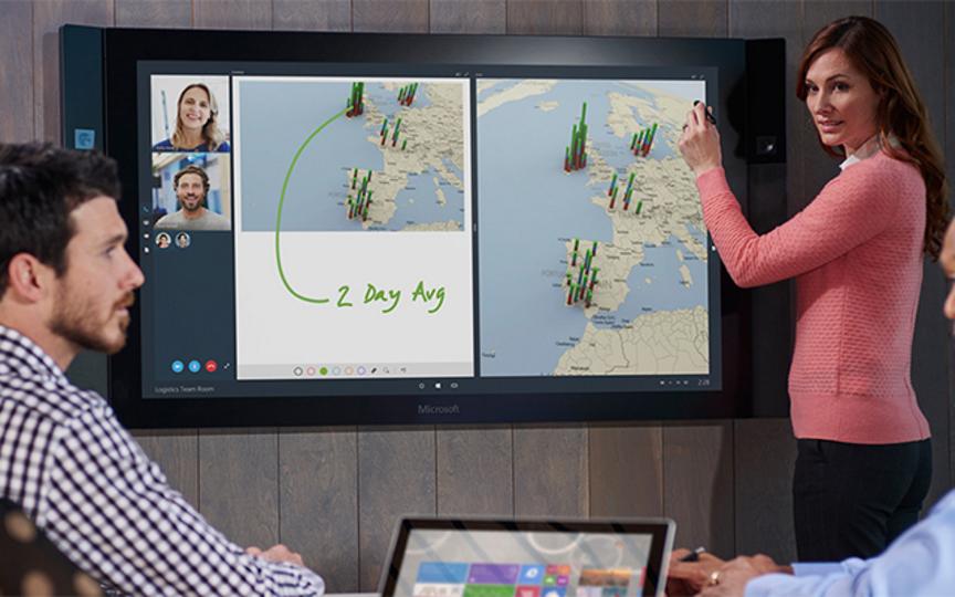 会議が変わる(かも!) 84インチの大画面タブレットをマイクロソフトが発売