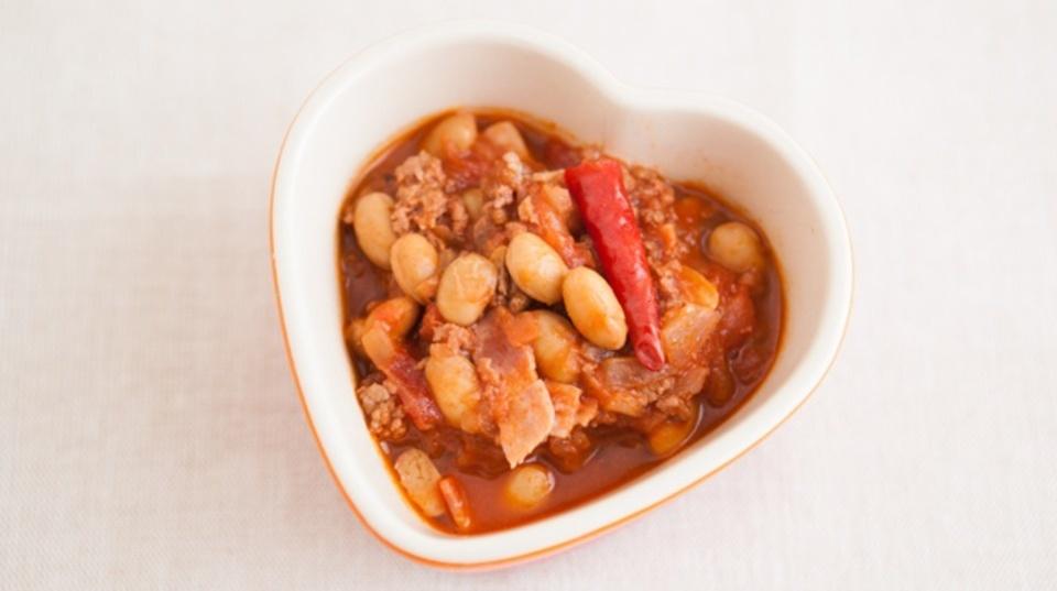 心を整理するレシピ:大豆で作るチリビーンズ