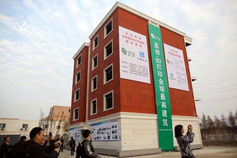 中国のとある企業、3Dプリンタで5階建てマンションを出力