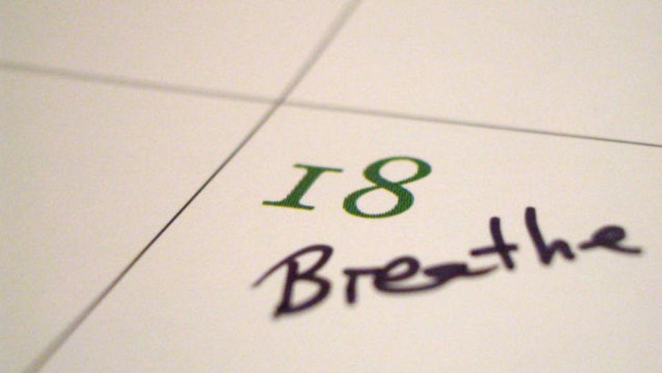 ストレスを減らし、気持ちを落ち着かせるための腹式呼吸法