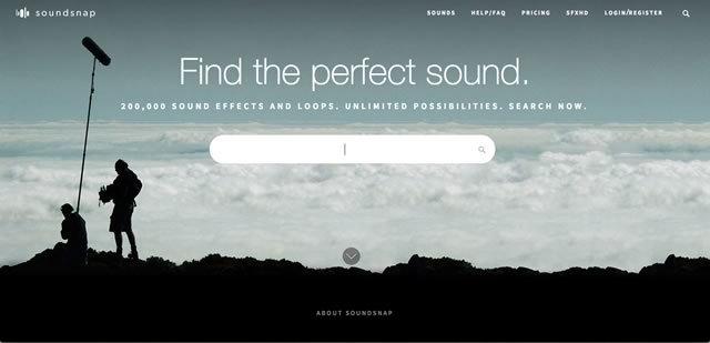 20万種類ものサウンドエフェクトや環境音が手に入るサイト「soundsnap」